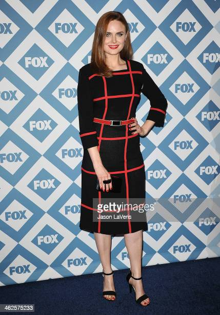Actress Emily Deschanel attends the FOX AllStar 2014 winter TCA party at The Langham Huntington Hotel and Spa on January 13 2014 in Pasadena...