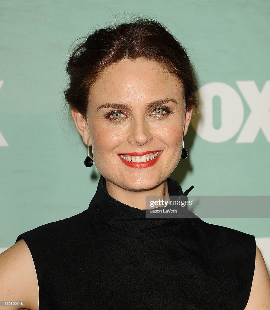 Actress <a gi-track='captionPersonalityLinkClicked' href=/galleries/search?phrase=Emily+Deschanel&family=editorial&specificpeople=240264 ng-click='$event.stopPropagation()'>Emily Deschanel</a> attends the FOX All-Star Party on August 1, 2013 in West Hollywood, California.