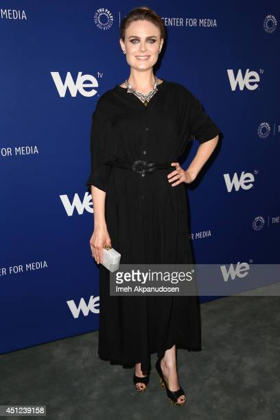 Actress Emily Deschanel attends The Paley Center For Media WE tv presentation of 'On the Beat The Evolution Of The Crime Drama Heroine' at The Paley...