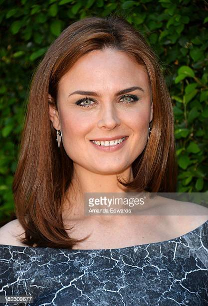 Actress Emily Deschanel attends The Rape Foundation's Annual Brunch at Greenacres on September 29 2013 in Beverly Hills California
