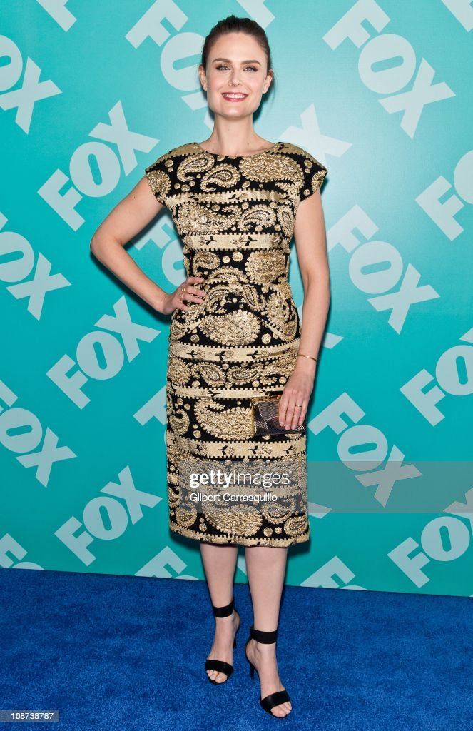 Actress <a gi-track='captionPersonalityLinkClicked' href=/galleries/search?phrase=Emily+Deschanel&family=editorial&specificpeople=240264 ng-click='$event.stopPropagation()'>Emily Deschanel</a> of 'Bones' attends the FOX 2103 Programming Presentation Post-Party at Wollman Rink - Central Park on May 13, 2013 in New York City.