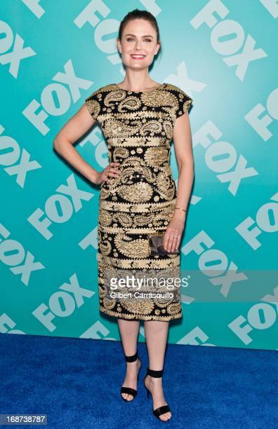 Actress Emily Deschanel of 'Bones' attends the FOX 2103 Programming Presentation PostParty at Wollman Rink Central Park on May 13 2013 in New York...
