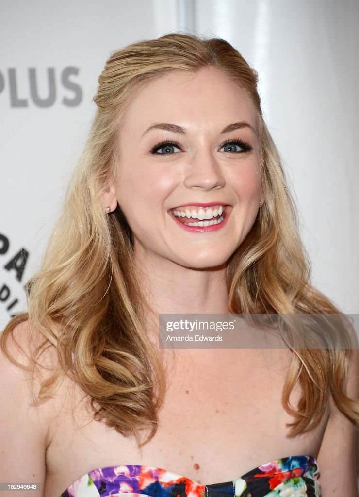 Actress Emily Kinney arrives at the 30th Annual PaleyFest: The William S. Paley Television Festival featuring 'The Walking Dead' at Saban Theatre on March 1, 2013 in Beverly Hills, California.