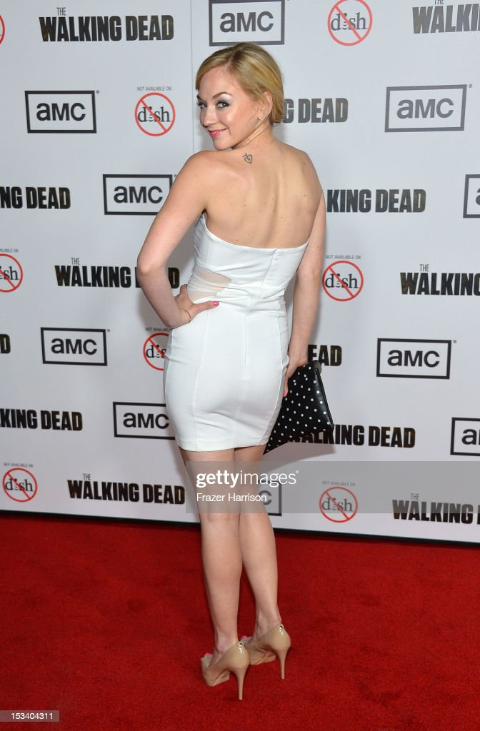 Actress Emily Kinney arrives at the premiere of AMC's 'The Walking Dead' 3rd Season at Universal CityWalk on October 4, 2012 in Universal City, California.