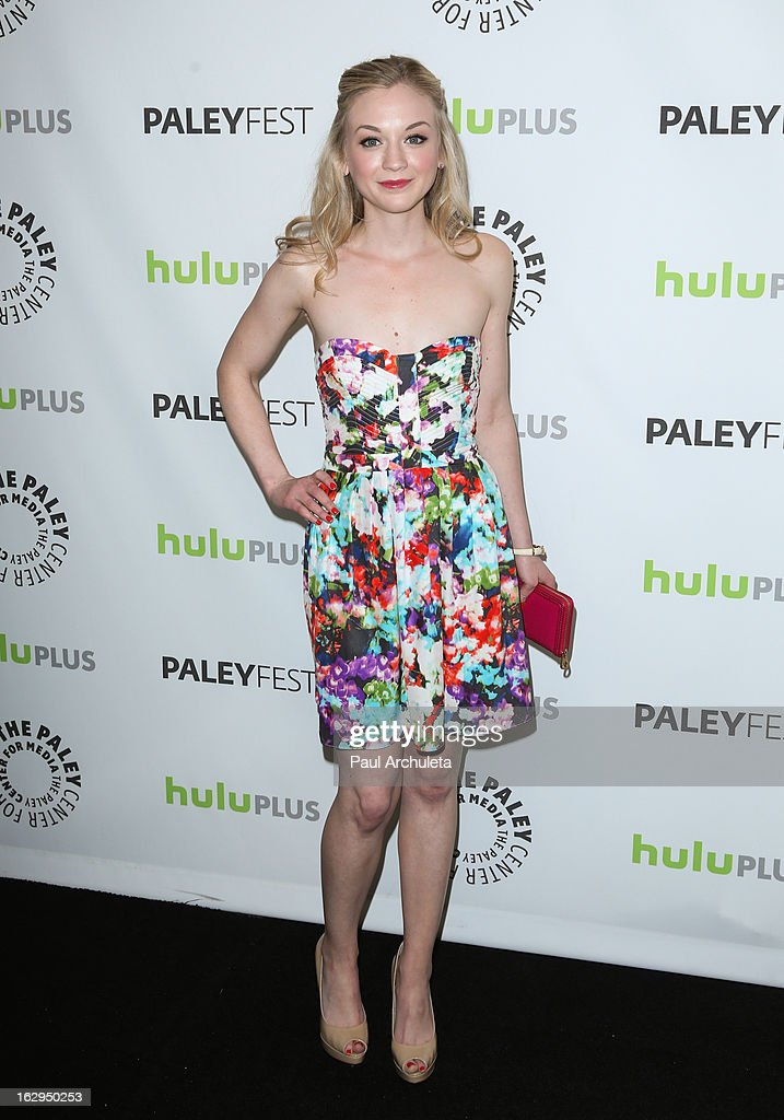 Actress Emily Kinney attends the 30th Annual PaleyFest featuring the cast of 'The Walking Dead' at Saban Theatre on March 1, 2013 in Beverly Hills, California.