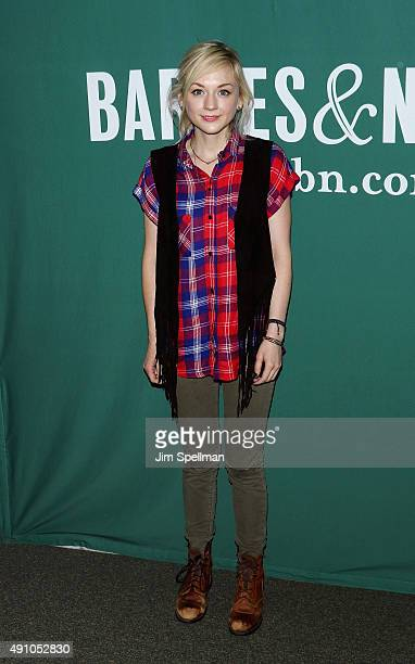 Actress Emily Kinney signs copies of 'This Is War' at Barnes Noble Union Square on October 2 2015 in New York City