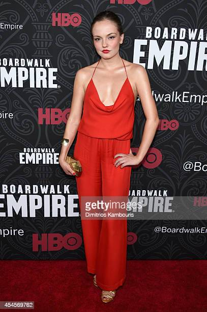 Actress Emily Meade attends HBO's 'Boardwalk Empire' Season Five New York Premiere at Ziegfeld Theatre on September 3 2014 in New York City