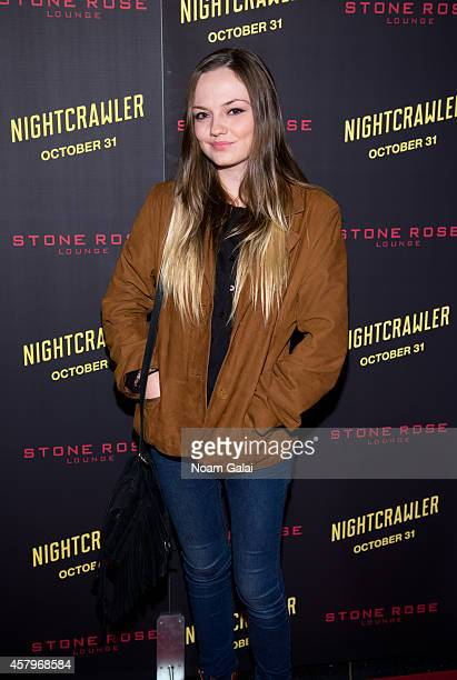Actress Emily Meade attends the 'Nightcrawler' New York Premiere at AMC Lincoln Square Theater on October 27 2014 in New York City