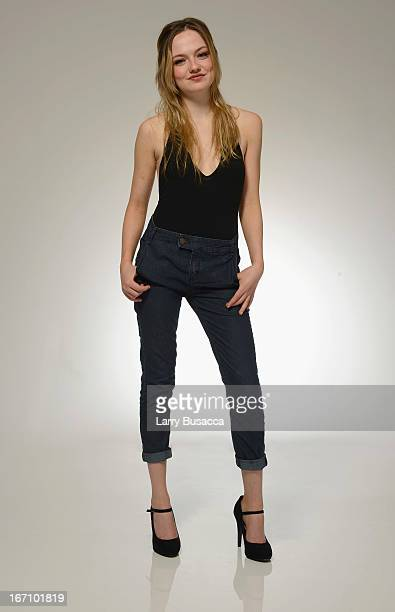 Actress Emily Meade of the film 'Bluebird' poses at the Tribeca Film Festival 2013 portrait studio on April 20 2013 in New York City