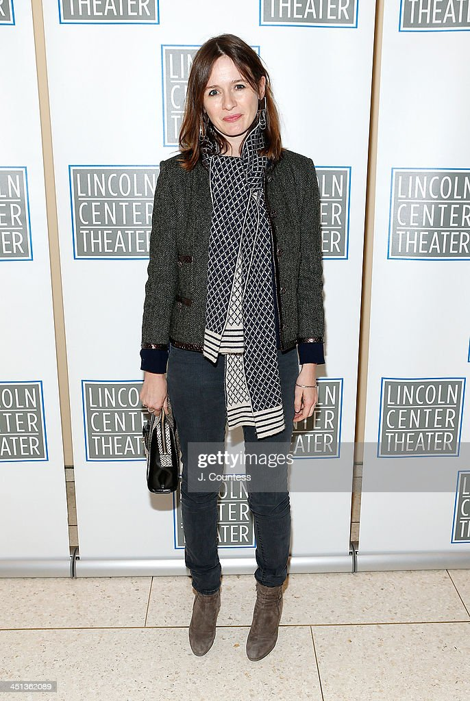 Actress <a gi-track='captionPersonalityLinkClicked' href=/galleries/search?phrase=Emily+Mortimer&family=editorial&specificpeople=202561 ng-click='$event.stopPropagation()'>Emily Mortimer</a> attends the afterparty for the opening night of 'Shakespeare's Macbeth' at Avery Fisher Hall, Lincoln Center on November 21, 2013 in New York City.