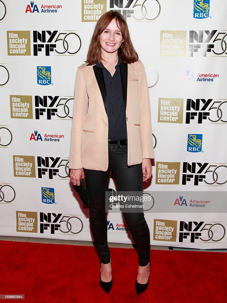 Actress Emily Mortimer attends the 'Ginger And Rosa' premiere during the 50th New York Film Festival at Alice Tully Hall at Lincoln Center on October 8, 2012 in New York City.
