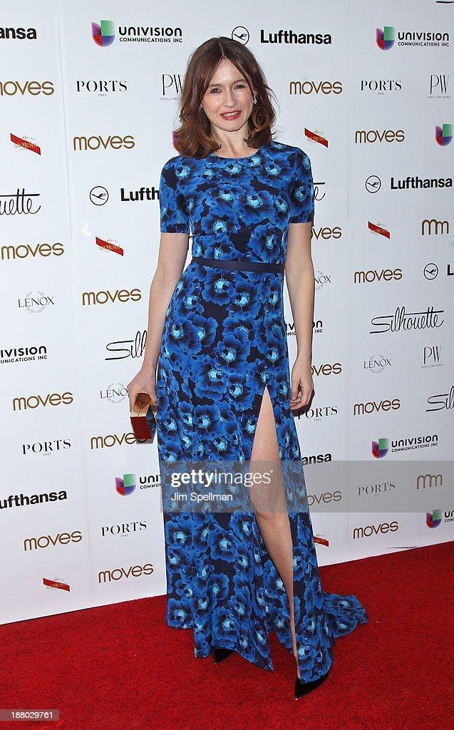 Actress Emily Mortimer attends the New York Moves Magazine's 10th Anniversary Power Women Gala at the Grand Hyatt New York on November 14, 2013 in New York City.