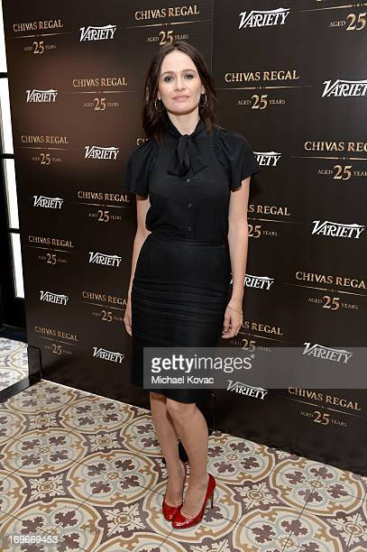 Actress Emily Mortimer attends the Variety Emmy Studio at Palihouse on May 30 2013 in West Hollywood California