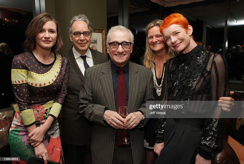 Actress <a gi-track='captionPersonalityLinkClicked' href=/galleries/search?phrase=Emily+Mortimer&family=editorial&specificpeople=202561 ng-click='$event.stopPropagation()'>Emily Mortimer</a>, composer <a gi-track='captionPersonalityLinkClicked' href=/galleries/search?phrase=Howard+Shore&family=editorial&specificpeople=208864 ng-click='$event.stopPropagation()'>Howard Shore</a>, director <a gi-track='captionPersonalityLinkClicked' href=/galleries/search?phrase=Martin+Scorsese&family=editorial&specificpeople=201976 ng-click='$event.stopPropagation()'>Martin Scorsese</a>, cinematographer <a gi-track='captionPersonalityLinkClicked' href=/galleries/search?phrase=Ellen+Kuras&family=editorial&specificpeople=243051 ng-click='$event.stopPropagation()'>Ellen Kuras</a> and costume designer <a gi-track='captionPersonalityLinkClicked' href=/galleries/search?phrase=Sandy+Powell&family=editorial&specificpeople=233793 ng-click='$event.stopPropagation()'>Sandy Powell</a> attend the GREY GOOSE/RADD/Paramount pre-Oscars party at Soho House on February 23, 2012 in West Hollywood, California.