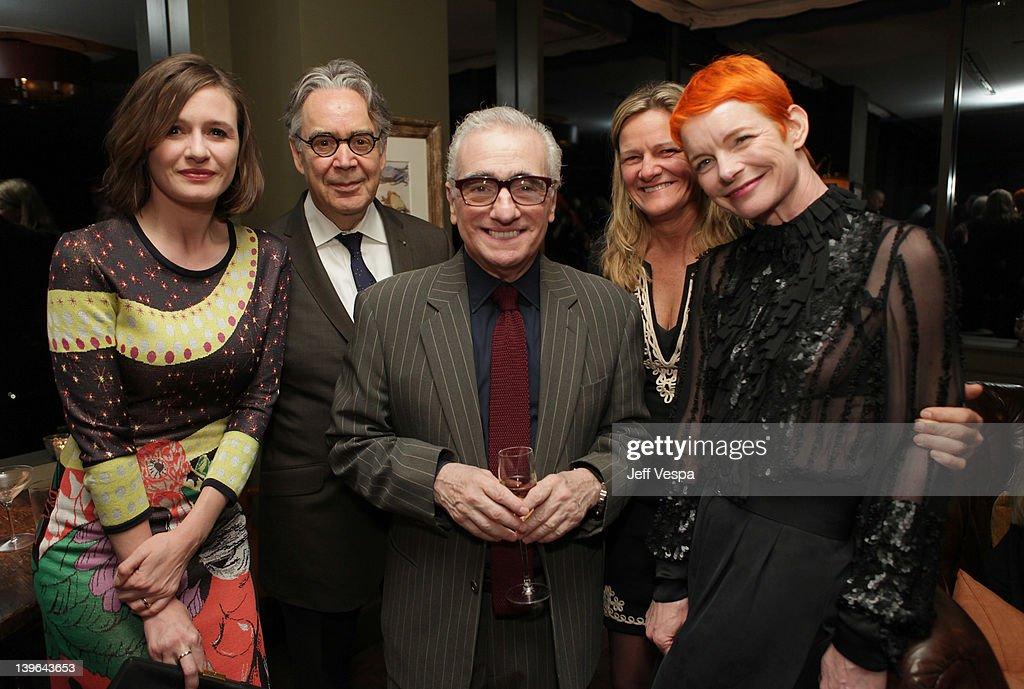 Actress Emily Mortimer composer Howard Shore director Martin Scorsese cinematographer Ellen Kuras and costume designer Sandy Powell attend the GREY...