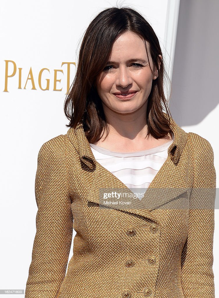 Actress Emily Mortimer poses in the Piaget Lounge during The 2013 Film Independent Spirit Awards on February 23, 2013 in Santa Monica, California.