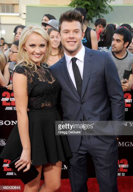 Actress Emily Osment and guest arrive at the Los Angeles premiere of '22 Jump Street' at Regency Village Theatre on June 10 2014 in Westwood...