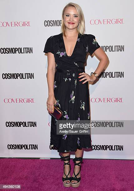Actress Emily Osment arrives at Cosmopolitan Magazine's 50th Birthday Celebration at Ysabel on October 12 2015 in West Hollywood California