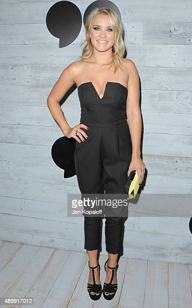 Actress Emily Osment arrives at go90 Sneak Peek at Wallis Annenberg Center for the Performing Arts on September 24 2015 in Beverly Hills California