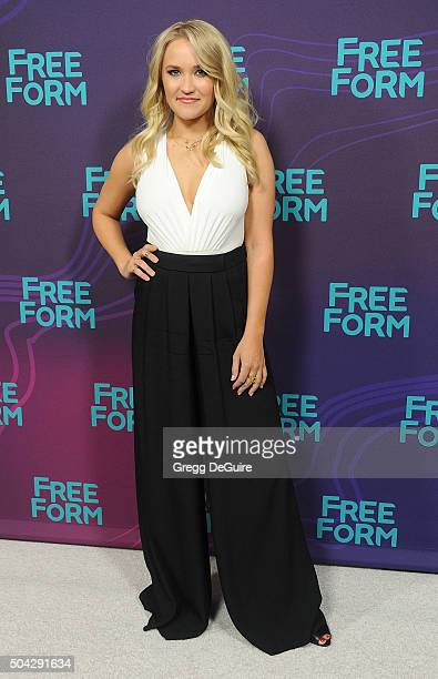 Actress Emily Osment arrives at the 2016 Winter TCA Tour Disney/ABC at Langham Hotel on January 9 2016 in Pasadena California