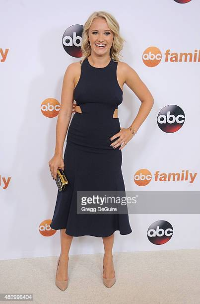 Actress Emily Osment arrives at the Disney ABC Television Group's 2015 TCA Summer Press Tour on August 4 2015 in Beverly Hills California