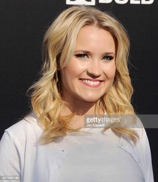 Actress Emily Osment arrives at the Los Angeles Premiere of Disney's 'Tomorrowland' at AMC Downtown Disney on May 9 2015 in Lake Buena Vista Florida