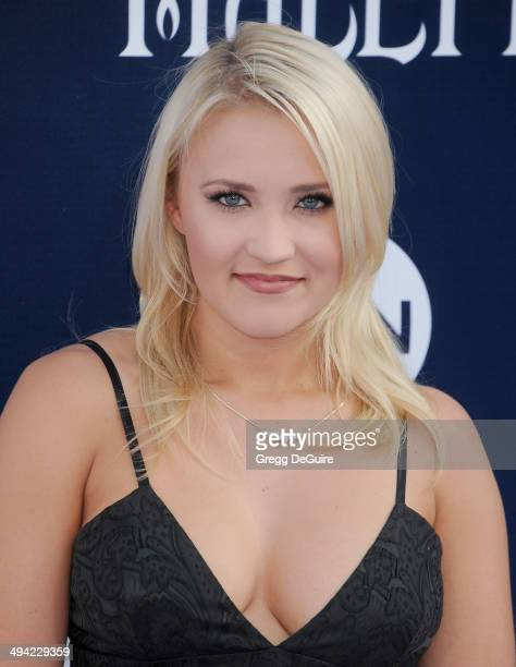 Actress Emily Osment arrives at the World Premiere Of Disney's 'Maleficent' at the El Capitan Theatre on May 28 2014 in Hollywood California