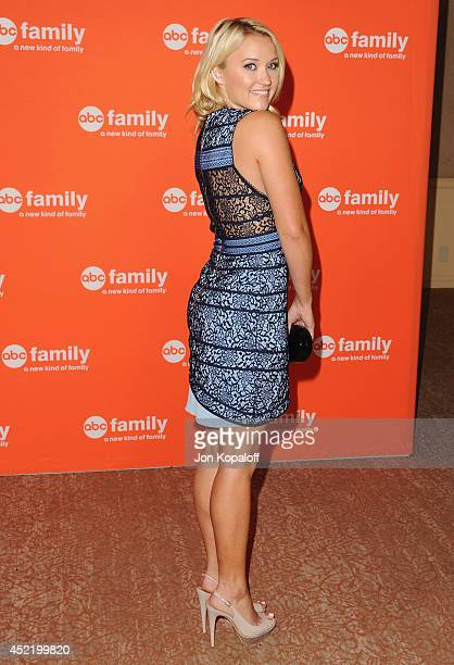 Actress Emily Osment arrives the Disney ABC Television Group 2014 Television Critics Association Summer Press Tour at The Beverly Hilton Hotel on...