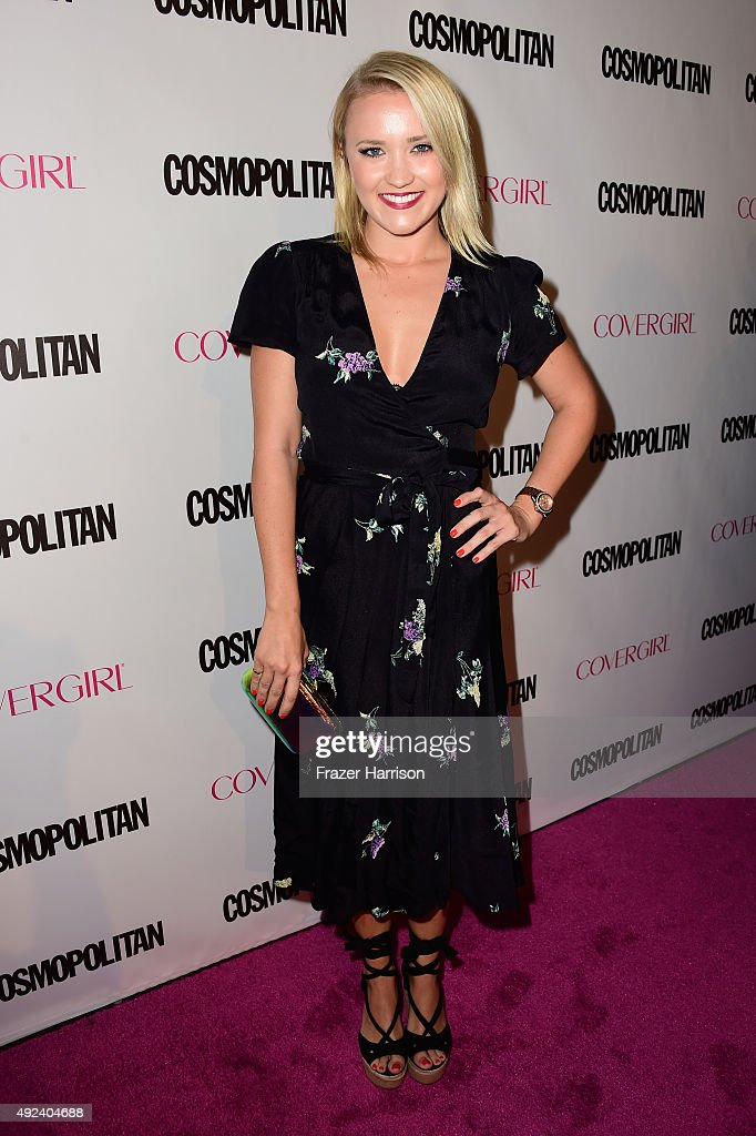 Actress Emily Osment attends Cosmopolitan's 50th Birthday Celebration at Ysabel on October 12 2015 in West Hollywood California