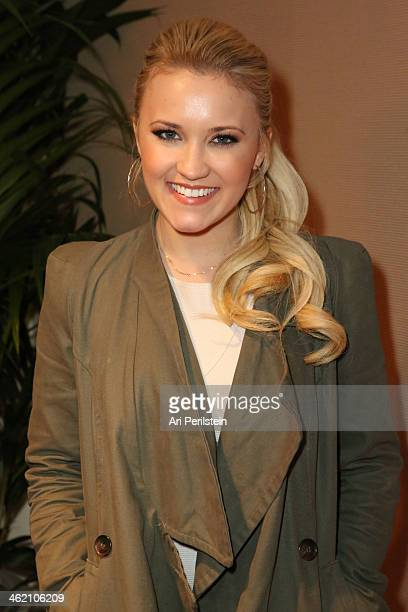 Actress Emily Osment attends Crackle TCA Presentation at The Langham Huntington Hotel and Spa on January 12 2014 in Pasadena California