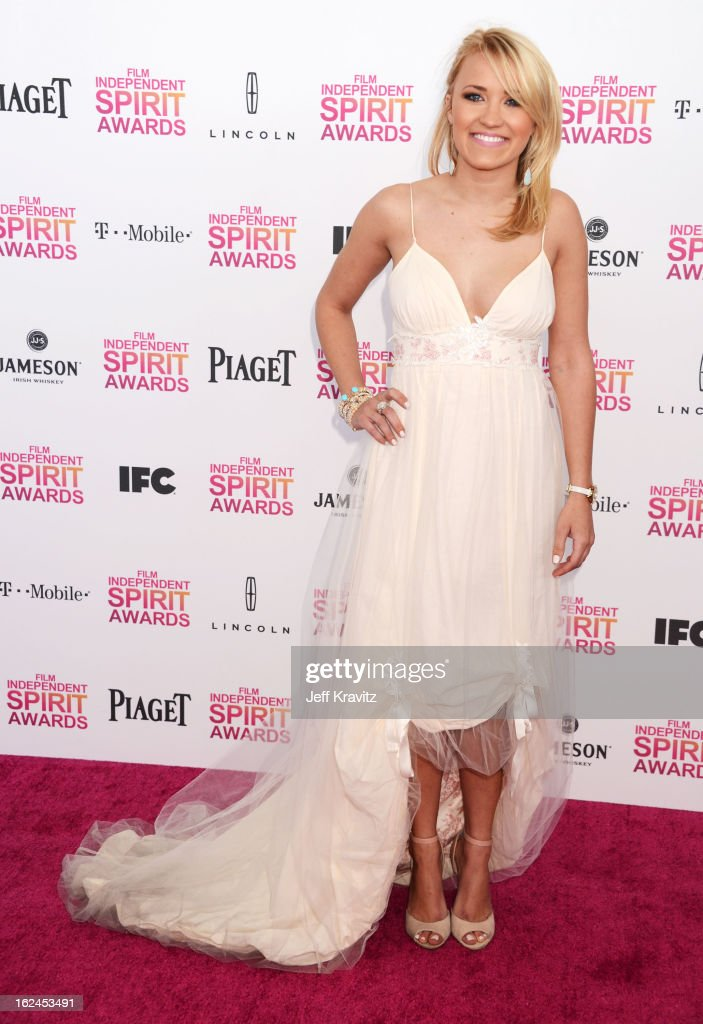 Actress Emily Osment attends the 2013 Film Independent Spirit Awards at Santa Monica Beach on February 23, 2013 in Santa Monica, California.