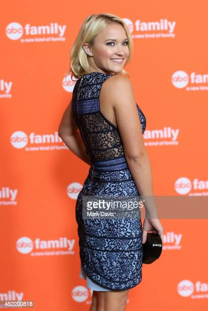 Actress Emily Osment attends the Disney ABC Television Group's TCA Summer Press Tour on July 15 2014 in Beverly Hills California