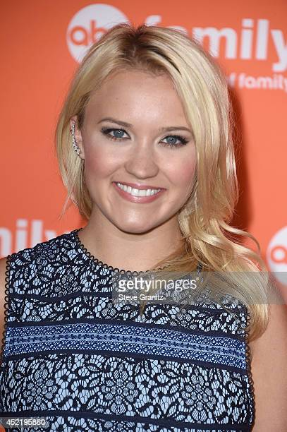 Actress Emily Osment attends the Disney/ABC Television Group 2014 Television Critics Association Summer Press Tour at The Beverly Hilton Hotel on...
