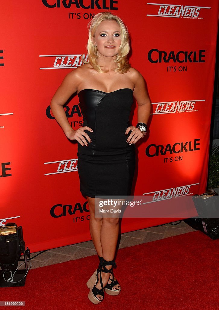 Actress Emily Osment attends the premiere of Crackle's new original digital series 'Cleaners' held at the Cary Grant Theater on September 26, 2013 in Culver City, California.