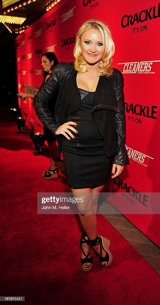 Actress Emily Osment attends the premiere of Crackle's new original digital series 'Cleaners' at the Cary Grant Theater on the Sony Pictures Studio lot on September 26, 2013 in Culver City, California.