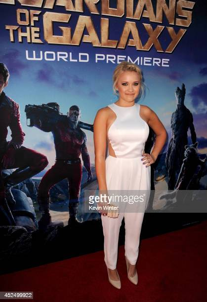 Actress Emily Osment attends the premiere of Marvel's 'Guardians Of The Galaxy' at the Dolby Theatre on July 21 2014 in Hollywood California