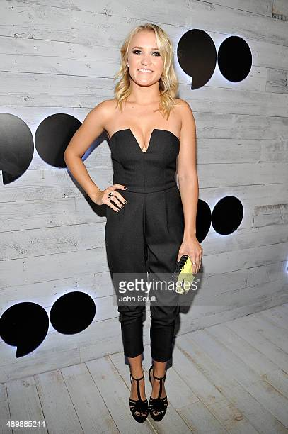 Actress Emily Osment attends the VIP sneak peek of the go90 Social Entertainment Platform at the Wallis Annenberg Center for the Performing Arts on...