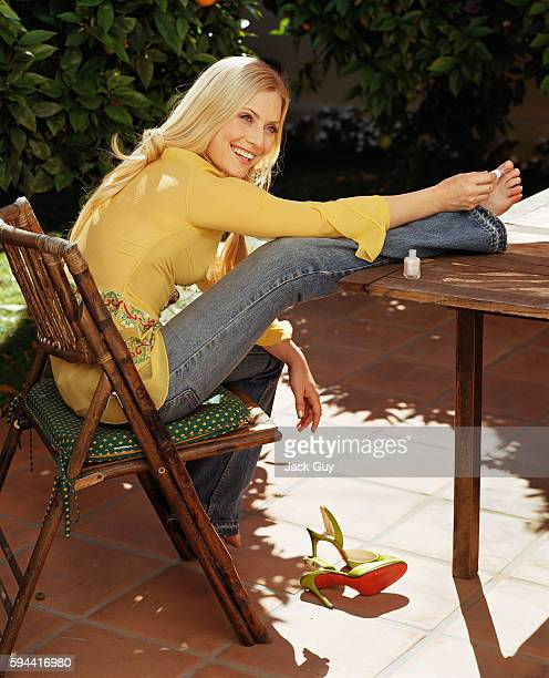 Actress Emily Procter is photographed for InStyle Magazine in 2003 at home in Los Angeles California