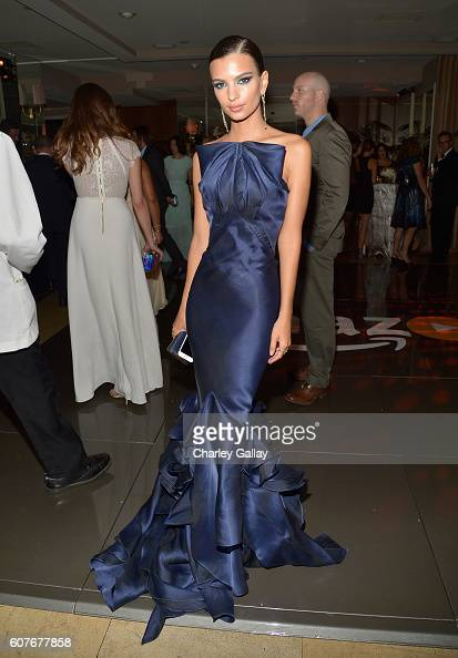 Actress Emily Ratajkowski attends Amazon's Emmy Celebration at Sunset Tower Hotel West Hollywood on September 18 2016 in West Hollywood California