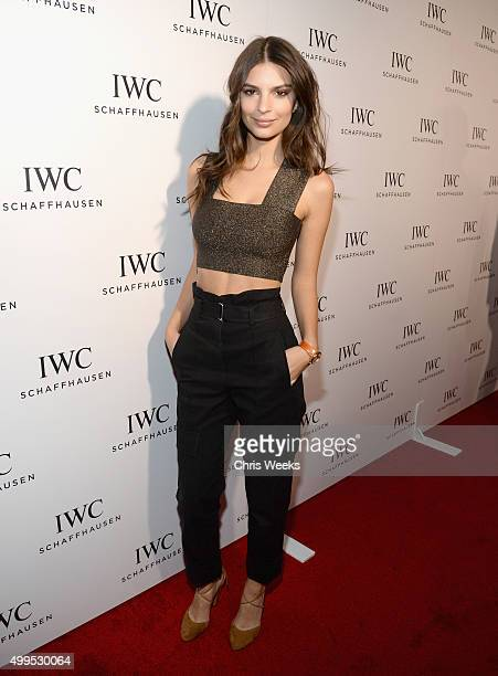Actress Emily Ratajkowski attends IWC Schaffhausen Rodeo Drive Flagship Boutique Opening on December 1 2015 in Beverly Hills California