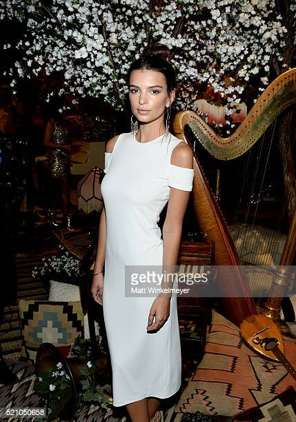 Actress Emily Ratajkowski attends the alice olivia by Stacey Bendet and Neiman Marcus present SeeNowBuyNow Runway Show at NeueHouse Los Angeles on...