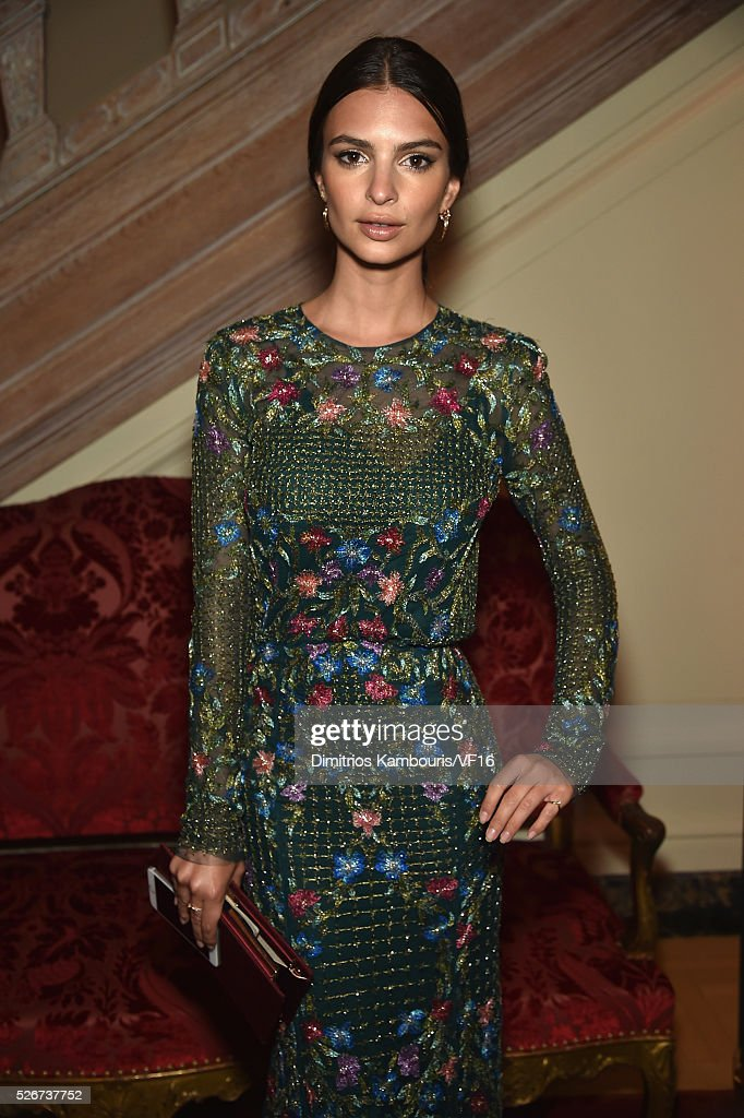 Actress Emily Ratajkowski attends the Bloomberg & Vanity Fair cocktail reception following the 2015 WHCA Dinner at the residence of the French Ambassador on April 30, 2016 in Washington, DC.