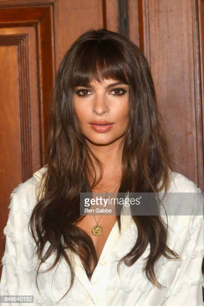 Actress Emily Ratajkowski attends the Marc Jacobs Fashion Show during New York Fashion Week at Park Avenue Armory on September 13 2017 in New York...