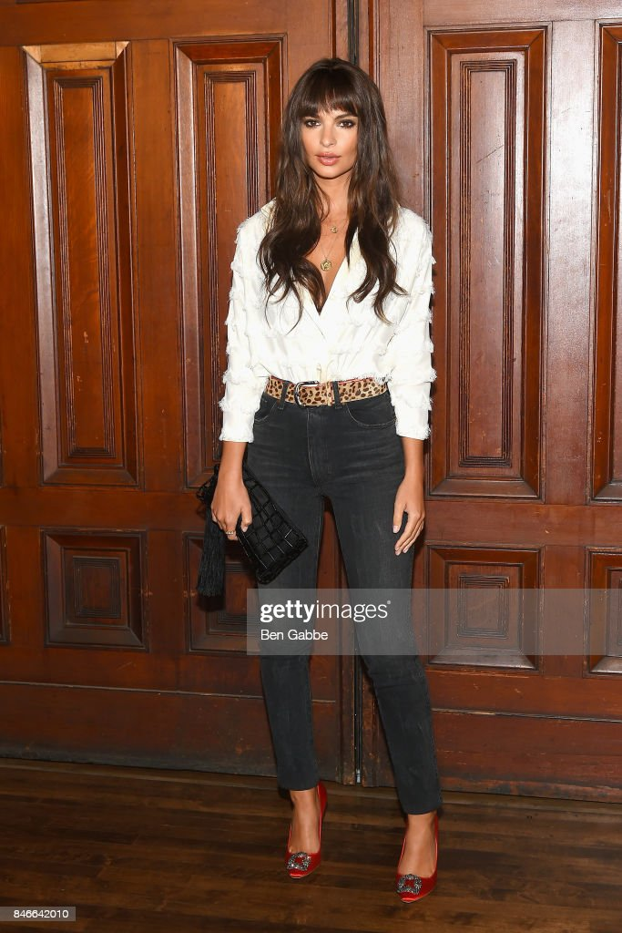 Actress Emily Ratajkowski attends the Marc Jacobs Fashion Show during New York Fashion Week at Park Avenue Armory on September 13, 2017 in New York City.