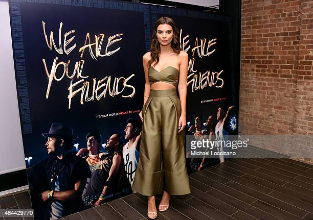 Actress Emily Ratajkowski attends the 'We Are Your Friends' tour stop photo call and after party at the Marquee on August 18 2015 in New York City
