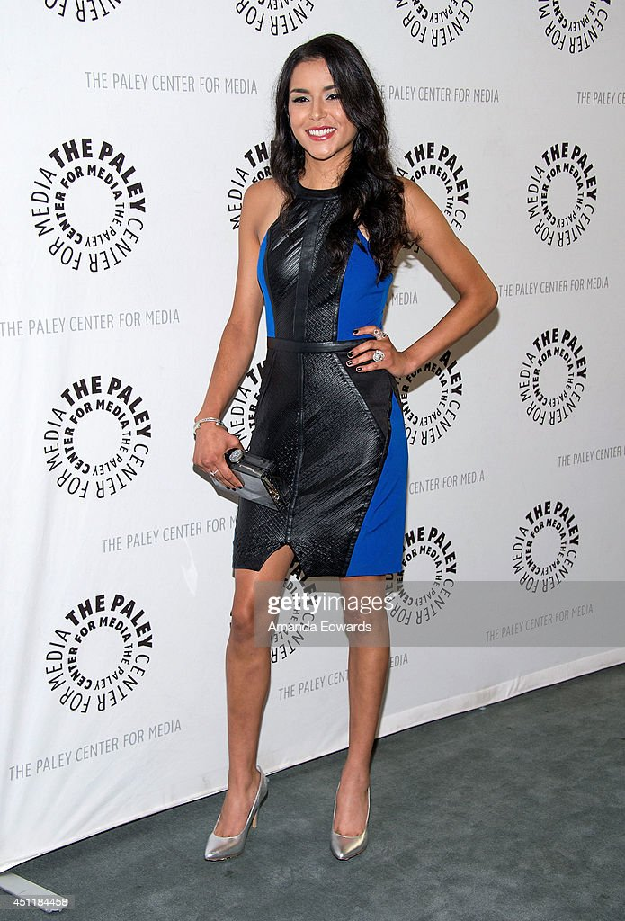 Actress <a gi-track='captionPersonalityLinkClicked' href=/galleries/search?phrase=Emily+Rios&family=editorial&specificpeople=812294 ng-click='$event.stopPropagation()'>Emily Rios</a> arrives at The Paley Center for Media's premiere screening of FX's 'The Bridge' at The Paley Center for Media on June 24, 2014 in Beverly Hills, California.