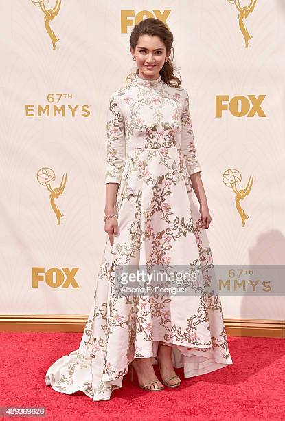Actress Emily Robinson attends the 67th Emmy Awards at Microsoft Theater on September 20 2015 in Los Angeles California 25720_001