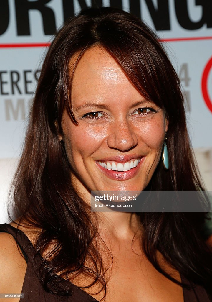 Actress Emily Swallow attends the screening of TNT's 'Monday Mornings' at BOA Steakhouse on January 24, 2013 in West Hollywood, California.