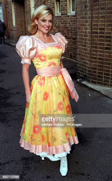 Actress Emily Symons takes a break from rehearsals for the pantomime 'Goldilocks and the Three Bears' at Upstream Short Street London The show will...