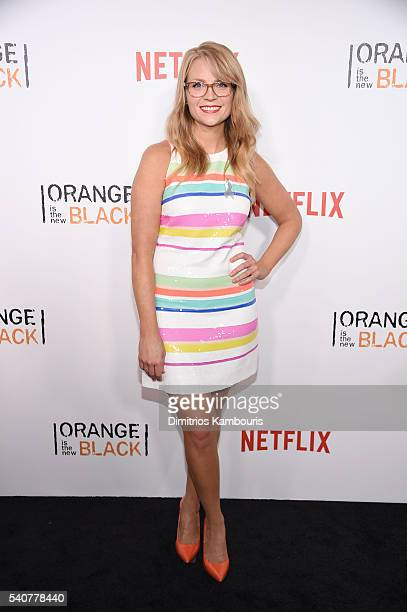 Actress Emily Tarver attends 'Orange Is The New Black' premiere at SVA Theater on June 16 2016 in New York City
